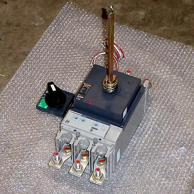 400 amp MCCB circuit breaker with rotary handle + Trip unit Merlin Gerin NS400N