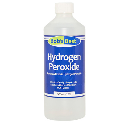 11.99% Food Grade Hydrogen Peroxide - 500ml - 5 Litre Pack Sizes Available