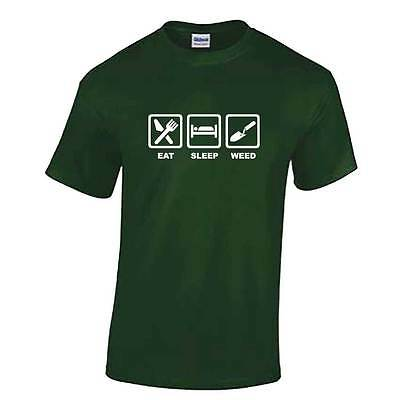 Mens EAT SLEEP WEED T Shirt - Gardening Tshirt - Gift Accessories Fathers Day