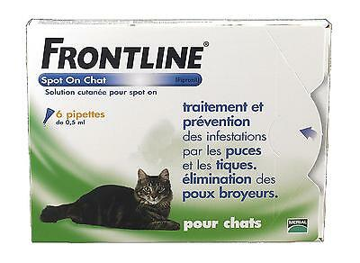 Frontline Spot On Chat Pipette Antiparasitaire Merial Boite de 6 Pipettes