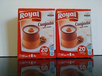 Cuajada (Spain) Dessert Packet Mix Two Boxes 10 Sachets Uk Stock