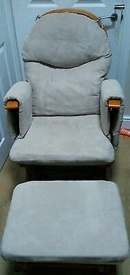 habebe rocking reclining nursing chair and footstool