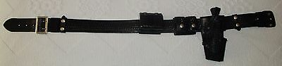 Police Duty Belt Jay-Pee Leather Weave & Accessories With Safariland Holster