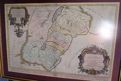 Antique (17 Large Map of Israel divided into the Tribes 104cm x 74cm