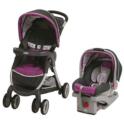 Graco Fastaction Fold Click Connect Travel System Nyssa 2015 NEW