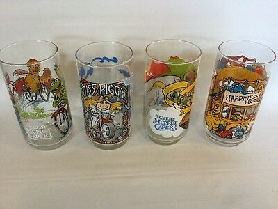 1981 The Great Muppet Caper McDonalds glasses set of 4