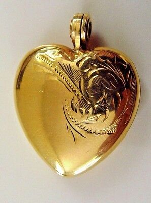 Vintage  9 Ct Gold Chester 1958 Heart Shaped Locket