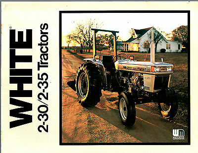1980S Oliver White Tractor 2-30 2-35 Utility Brochure