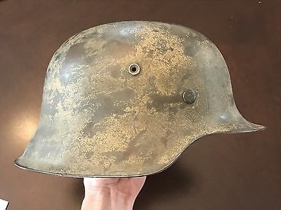 WW2 German Camo DAK Helmet