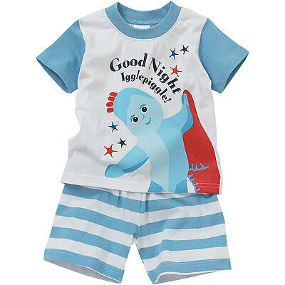 Baby Toddler Boys In The Night Garden Iggle Piggle Cotton Short Sleeve Pyjamas