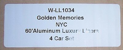 O Gauge New York Central Golden Memories Aluminum Passenger Car Set