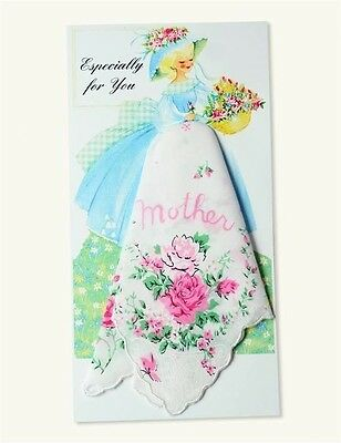Victorian Trading Co Mother Greeting Card w/ Handkerchief New Free Shipping