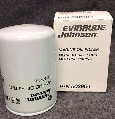 New EVINRUDE JOHNSON Marine Oil Filter, 502904