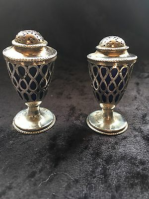 Antique Silver London 1878 Charles Boyton Pair Of Pepper Pots With Liners