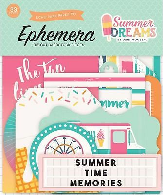 "Echo Park ""summer Dreams"" Ephemera Die Cuts Family Scrapjack's Place"