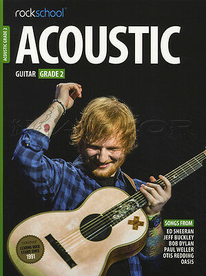 Rockschool Acoustic Guitar Grade 2 TAB Music Book with Audio Access Tests Exams