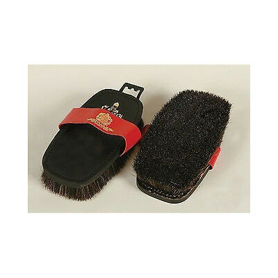 Equerry Leather Backed Body Brush | Black Horse Hair