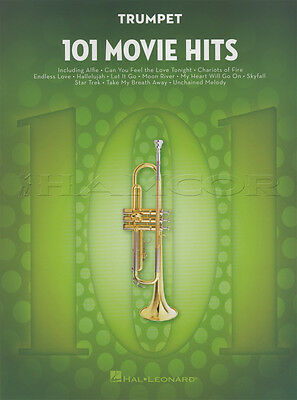 101 Movie Hits for Trumpet Sheet Music Book Skyfall Mission Impossible