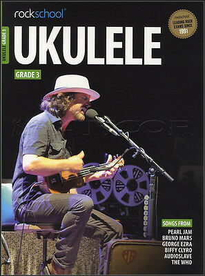 Rockschool Ukulele Grade 3 TAB Music Book & Audio From 2017 The Who Audioslave