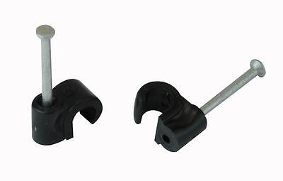 CABLE CLIP ROUND BLACK 6.00MM 100/BOX Accessories Cable Management