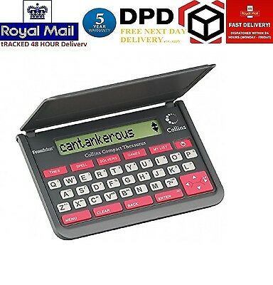 Franklin Collins Pocket Compact Electronic Thesaurus with Spell Checker & Games