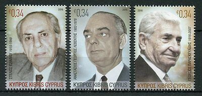 Cyprus 2016 MNH Great Cypriot Benefactors 3v Set People on Stamps