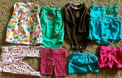 Used Baby Clothes Lot 3-6 Months Mix Onesies Pants Dress Shirt Sweater Outfit
