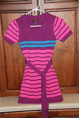 Girls Shampoo Pink, Purple, Blue Sweater Dress size 10-12