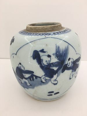 FINE CHINESE Ming Qing DYNASTY BLUE AND WHITE PORCELAIN JAR