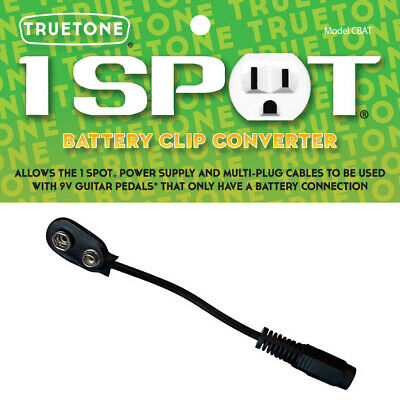 Visual Sound One 1 Spot Battery Clip Converter Cable 9V Power Adapter Cbat