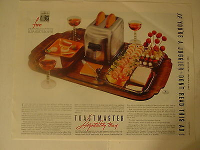 1937  Toastmaster  Ad  From Saturday Evening Post Magazine