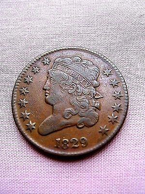 1829 Half Cent Piece (1/2 cent)   XF condition  (Price Reduced)