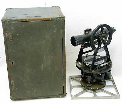 Vintage W & LE Gurley US Military Survey Transit Compass With Case