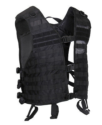 Black MOLLE Lightweight Airsoft Paintball Miltiary Police SWAT Tactical Vest