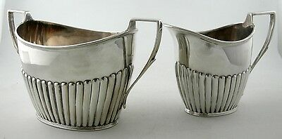 Sterling Sheffield creamer and sugar set
