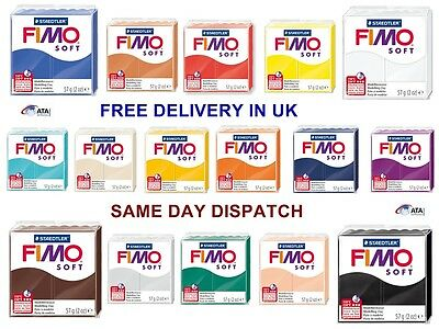 Brand New Staedtler FIMO Soft Polymer Oven Modelling Clay Blocks 57g