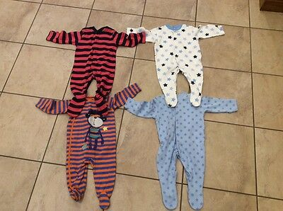 4 X  size 3-6 months BABY GROW / SLEEP SUITS / ALL IN ONES