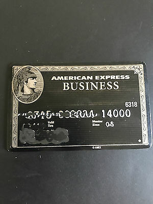 AMERICAN EXPRESS AMEX BLACK CARD Business Card EXPIRED