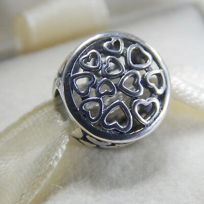New Authentic Pandora Charm Loving Sentiments 791980 Bead Tag & Box Included