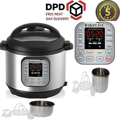 Instant Pot Duo 7-in-1 Electric Pressure Cooker, 6 Litre IP-DUO60 Brand New