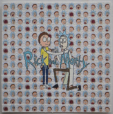 RICK AND MORTY - Blotter Art psychedelic perforated blotter 225 Squares