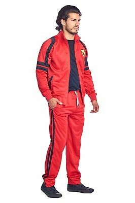 American Breed Mens Tracksuit Jacket Pant Set Abs203 Jogging Full Suit Red Black