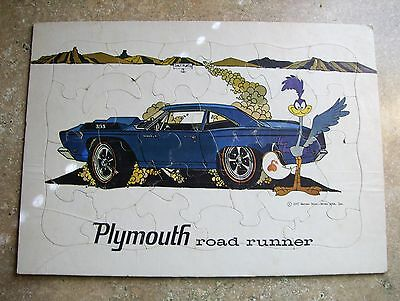 1967 Plymouth Road Runner vintage Dealer Promo puzzle + one other rare