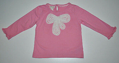 Monsoon Baby Girl Long Sleeve Top Blouse Age 18-24 Months Pink
