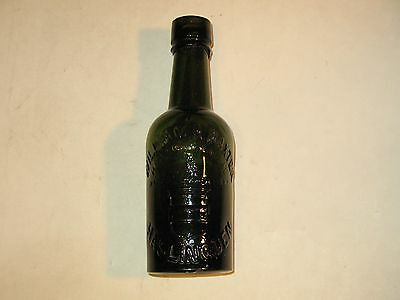 1870s WILLIAM H. BAXTER-HASLINGDEN OLIVE GREEN MINERAL WATER BOTTLE ~RARE~ LOOK