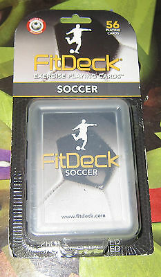 FitDeck Exercise Playing Cards - NEW - Soccer Training Aid - Fit Card Deck