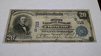 $20 1902 The First National Bank Of Covington Ky Date Back Charter #718 Nice!