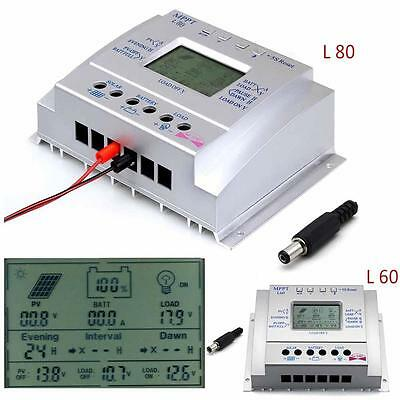 LCD 60A/80A MPPT Solar Panel Battery Regulator Charge Controllers CE 12V/24V UR