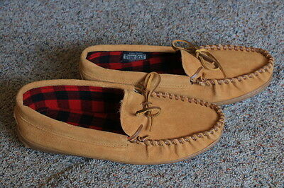 Guide Gear Leather Insulated Moccasin Slippers Men's Sz. 11