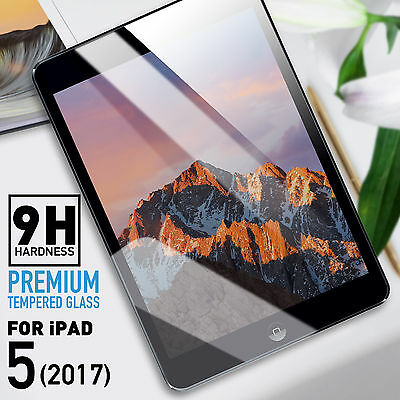 New Premium Tempered Glass Screen Protector Film for Apple iPad 5 9.7-inch 2017